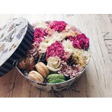 """Цветы с макарони """"Любимое лакомство"""""""
