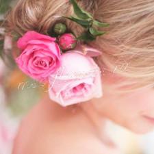 Шпильки для волос с пионовидной розой